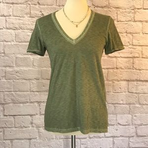 Rag & Bone Green V-neck tee size XS